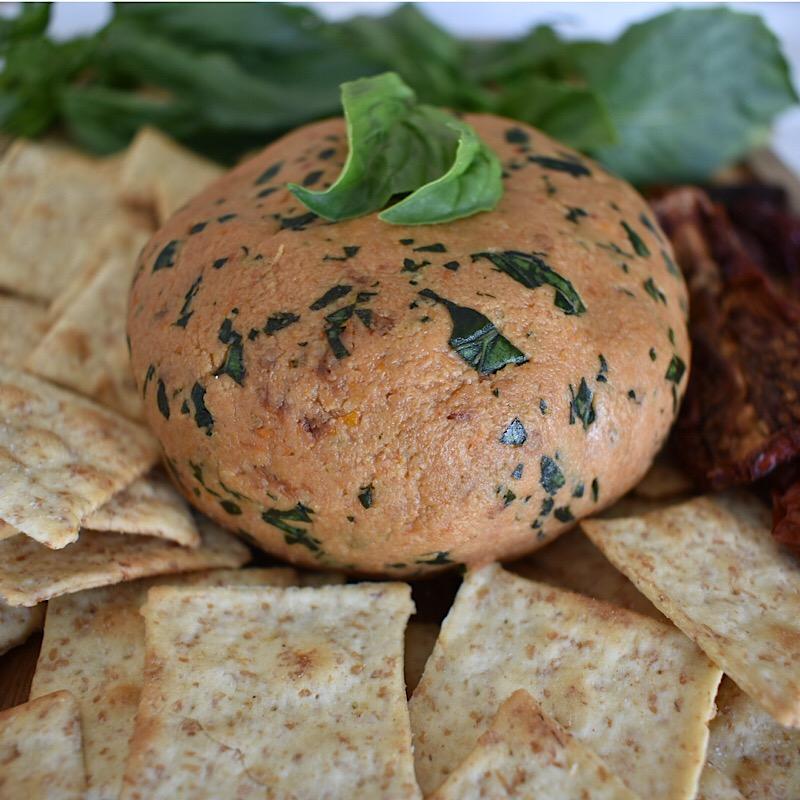Sun Dried Tomato and Basil Cashew Cheese