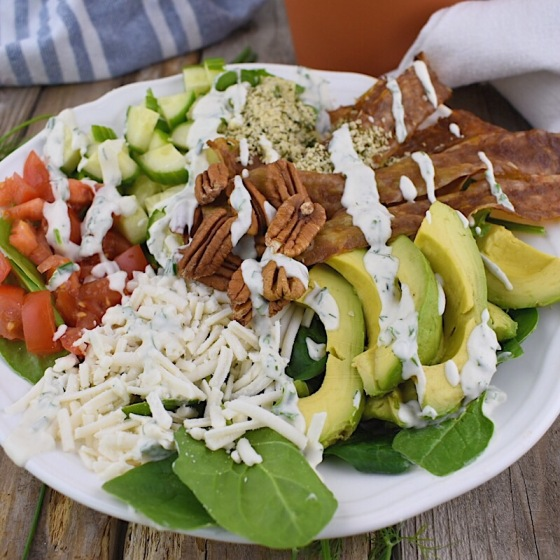 Vegan Bacon Cobb Salad | Real. Simple. Vegan.