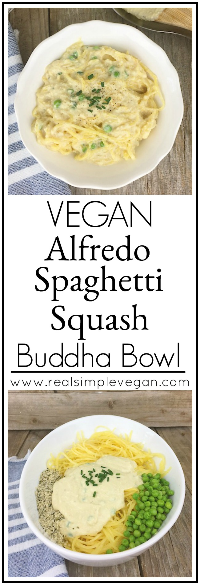 Vegan Alfredo Spaghetti Squash Buddha Bowl Real Simple Vegan
