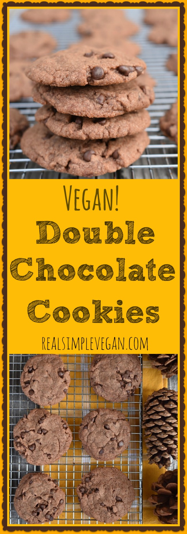 Double Chocolate Cookies | Real. Simple. Vegan.