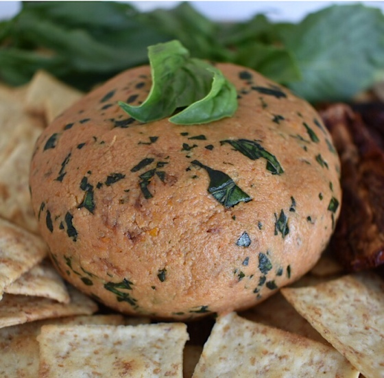 Vegan Sun Dried Tomato and Basil Cashew Cheese | Real. Simple. Vegan.