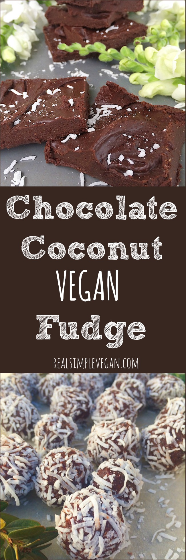 Vegan Chocolate Coconut Fudge