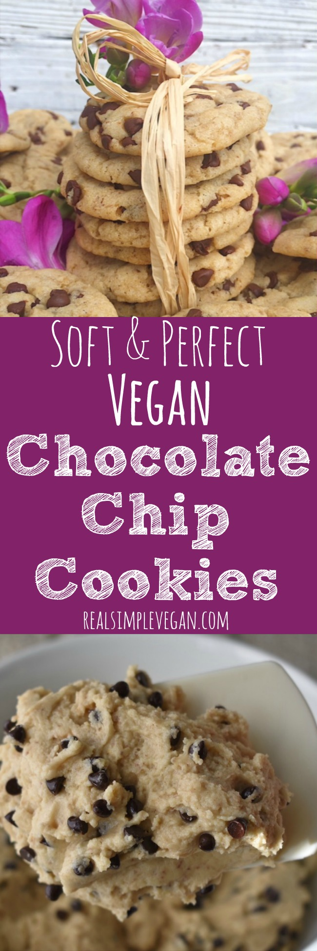 Soft & Perfect Vegan Chocolate Chip Cookies