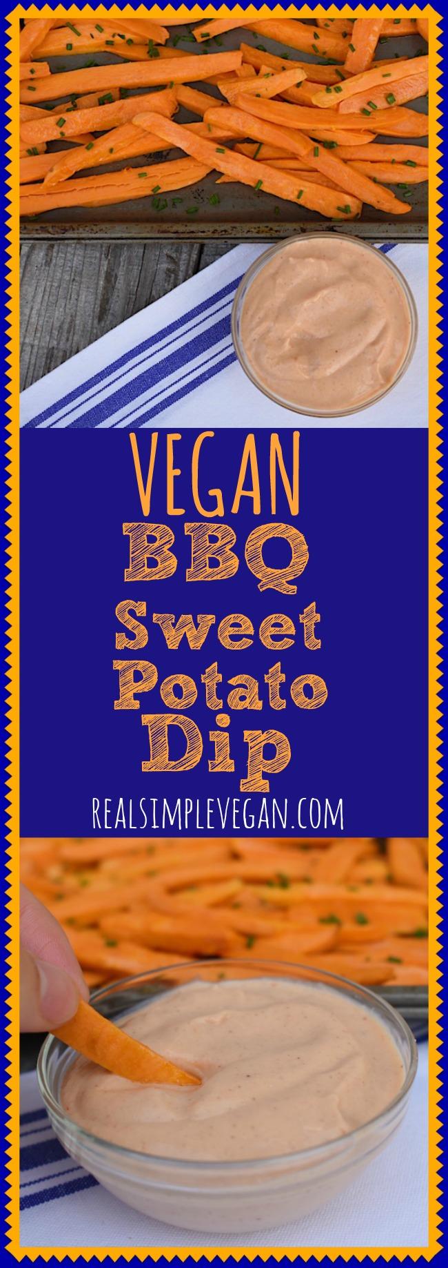 BBQ Sweet Potato Dip | Real. Simple. Vegan.
