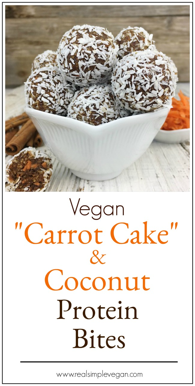 Coconut Carrot Cake Protein Bites | Real. Simple. Vegan.