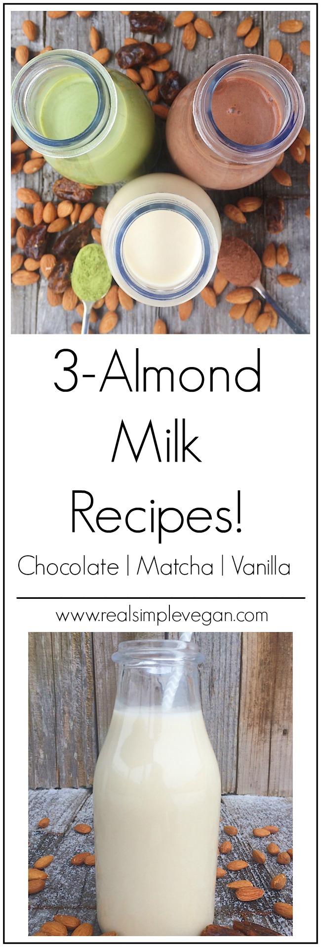 3 Way Almond Milk | Real. Simple. Vegan.