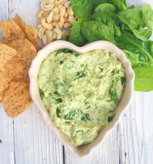Warm & Cheesy Vegan Spinach Dip | Real. Simple. Vegan.